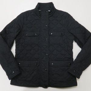 J Crew Quilted Downtown Field Jacket Black Womens